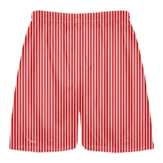 Red and White Stripe Shorts
