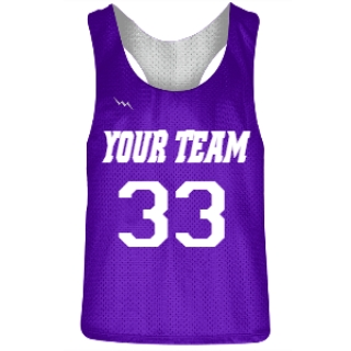 Purple and White Racerback Pinnies