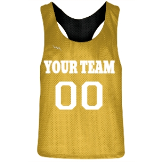 Gold and Black Racerback Pinnies