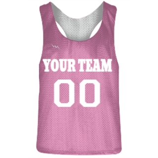 Pink and White Racerback Pinnies