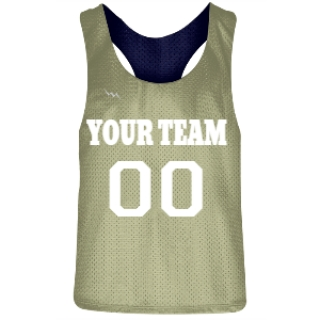 Vegas Gold and Navy Blue Racerback Pinnies