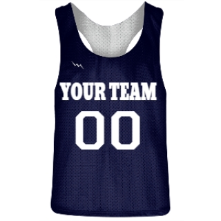 Navy Blue and White Racerback Pinnies