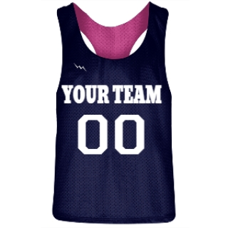Navy Blue and Hot Pink Racerback Pinnies