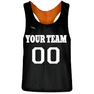 Black and Orange Racerback Pinnies