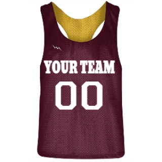 Maroon and Gold Racerback Pinnies