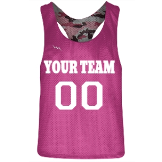 Hot Pink and Pink Camouflage Racerback Pinnies