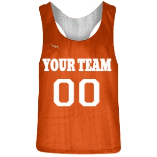 Fluorescent Orange and White Racerback Pinnies
