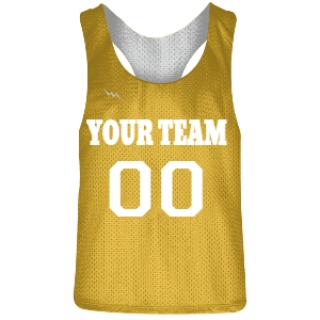 Gold and White Racerback Pinnies