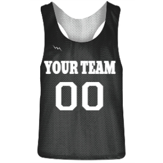 Charcoal Gray and White Racerback Pinnies