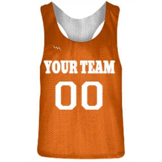 Orange and White Racerback Pinnies