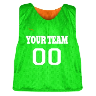 Orange and Neon Green Lacrosse Pinnie