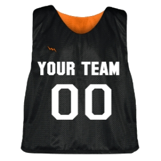 Black and Orange Lacrosse Pinnie