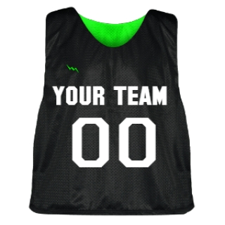 Black and Neon Green Lacrosse Pinnie