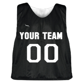 Black and White Lacrosse Pinnie