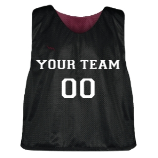 Black and Maroon Lacrosse Pinnie