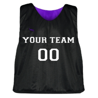 Black and Purple Lacrosse Pinnie