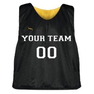 Black and Gold Lacrosse Pinnie