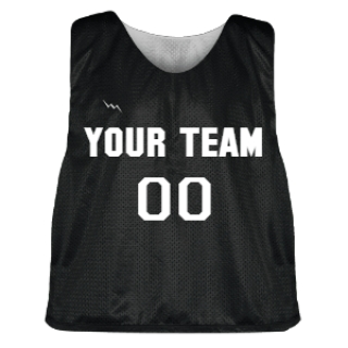 Black and Silver Lacrosse Pinnie