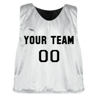 White and Black Lacrosse Pinnie
