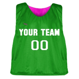 Kelley Green and Hot Pink Lacrosse Pinnie
