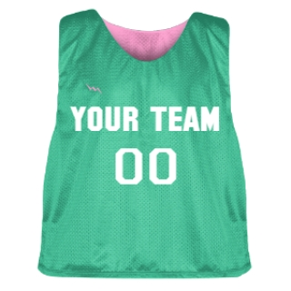 Teal and Pink Lacrosse Pinnie