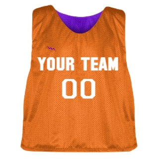 Orange and Purple Lacrosse Pinnie