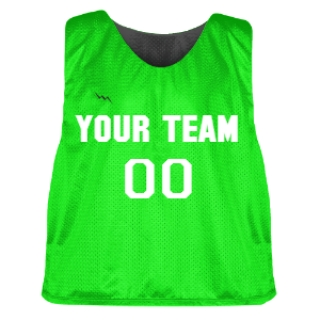 Neon Green and Charcoal Lacrosse Pinnie