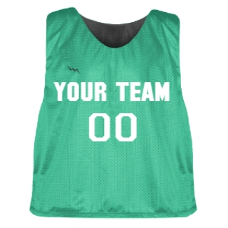 Teal and Charcoal Lacrosse Pinnie