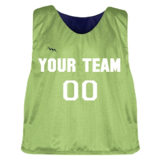 Lime Green and Navy Blue Lacrosse Pinnie
