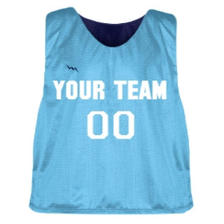 Powder Blue and Navy Blue Lacrosse Pinnie