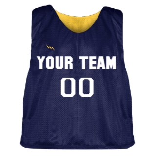 Navy Blue and Gold Lacrosse Pinnie
