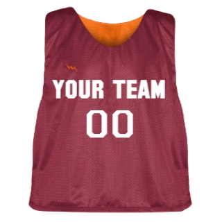 Cardinal Red and Orange Lacrosse Pinnie