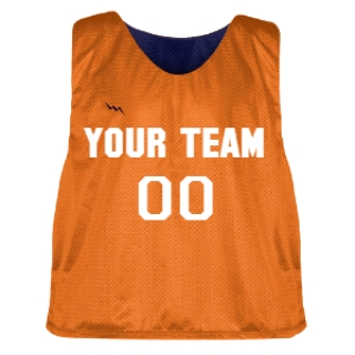 Orange and Navy Blue Lacrosse Pinnie