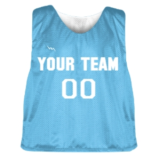 Powder Blue and White Lacrosse Pinnie