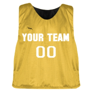 Gold and Black Lacrosse Pinnie
