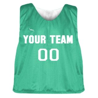 Teal and White Lacrosse Pinnie
