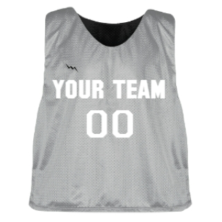 Silver and Black Lacrosse Pinnie