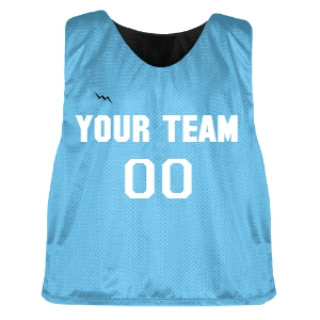 Powder Blue and Black Lacrosse Pinnie