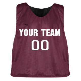 Maroon and Black Lacrosse Pinnie