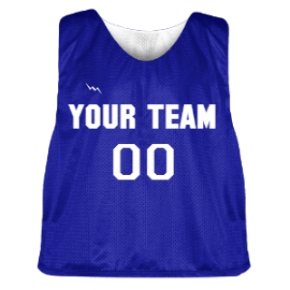 Royal Blue and White Lacrosse Pinnie