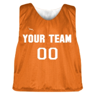 Orange and White Lacrosse Pinnie