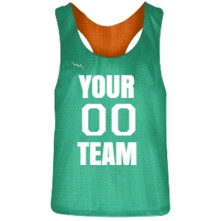 Teal and Orange Racerback Pinnies