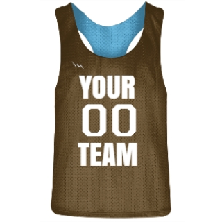 Brown and Powder Blue Racerback Pinnies