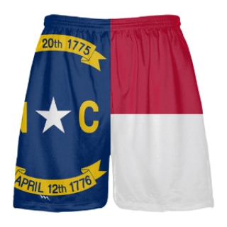North Carolina Flag Lacrosse Shorts