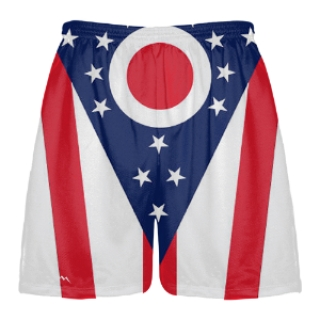 Ohio Flag Lacrosse Shorts