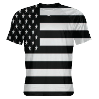 Black Out American Flag Shooter Shirts