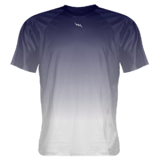 Navy Blue Fade Lacrosse Shooter Shirts