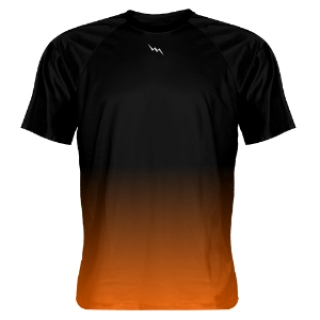 Black Orange Fade Shooter Shirts