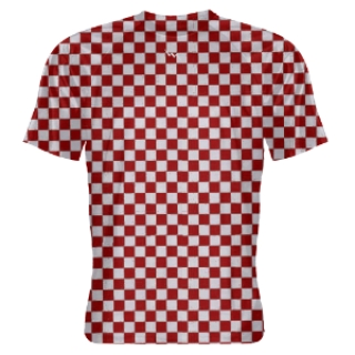Red Checker board Shooter Shirts
