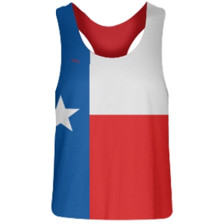 Girls Texas Flag Racerback Pinnies